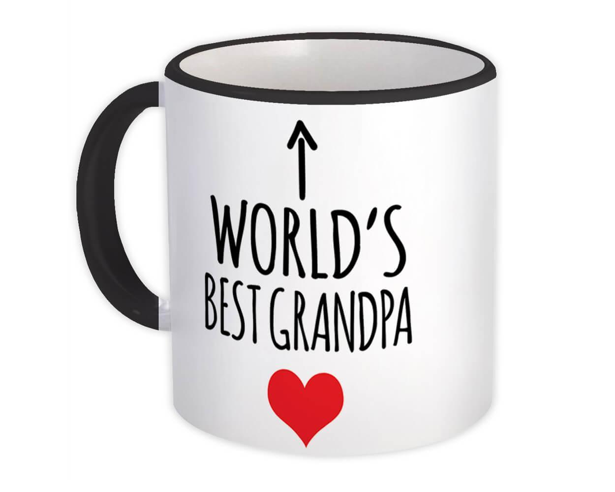 Worlds Best GRANDPA : Gift Mug Heart Love Family Work Christmas Birthday