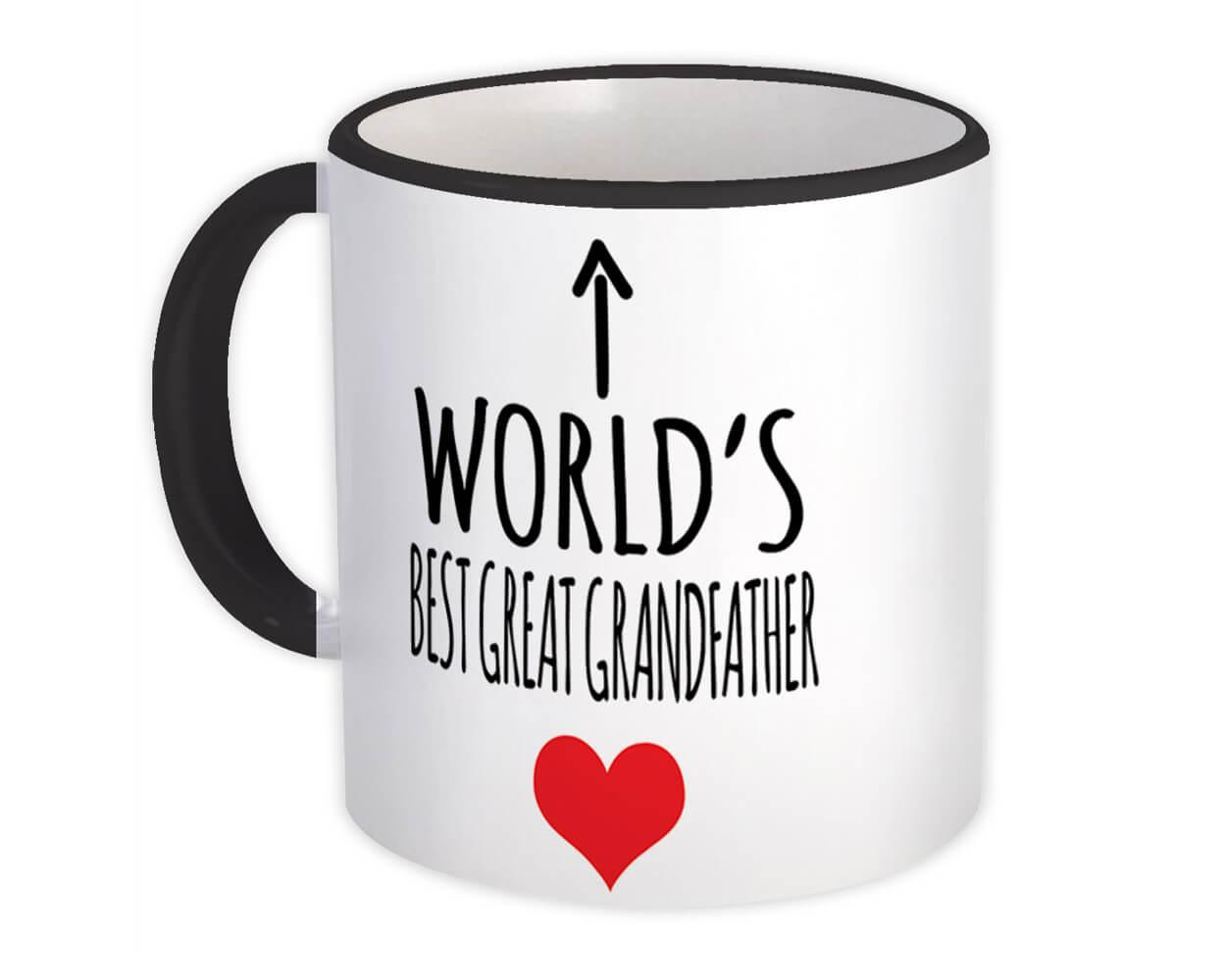 Worlds Best GREAT GRANDFATHER : Gift Mug Love Family Work Christmas Birthday