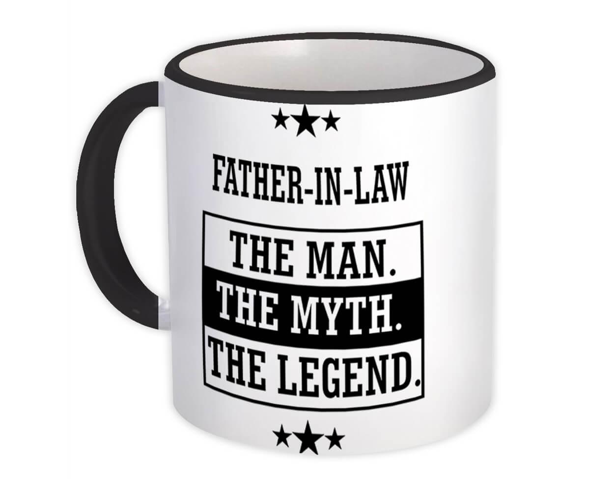 FATHER-IN-LAW : Gift Mug The Man Myth Legend Family Christmas