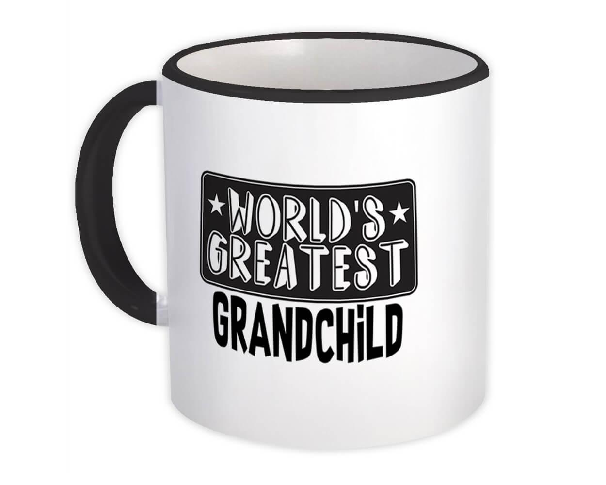 World Greatest GRANDCHILD : Gift Mug Family Christmas Birthday