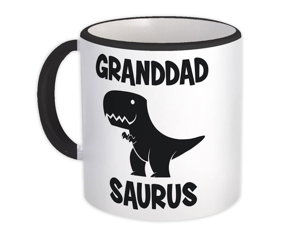 GRANDDAD Saurus : Gift Mug Birthday Dinosaur T Rex cute Family Grandpa