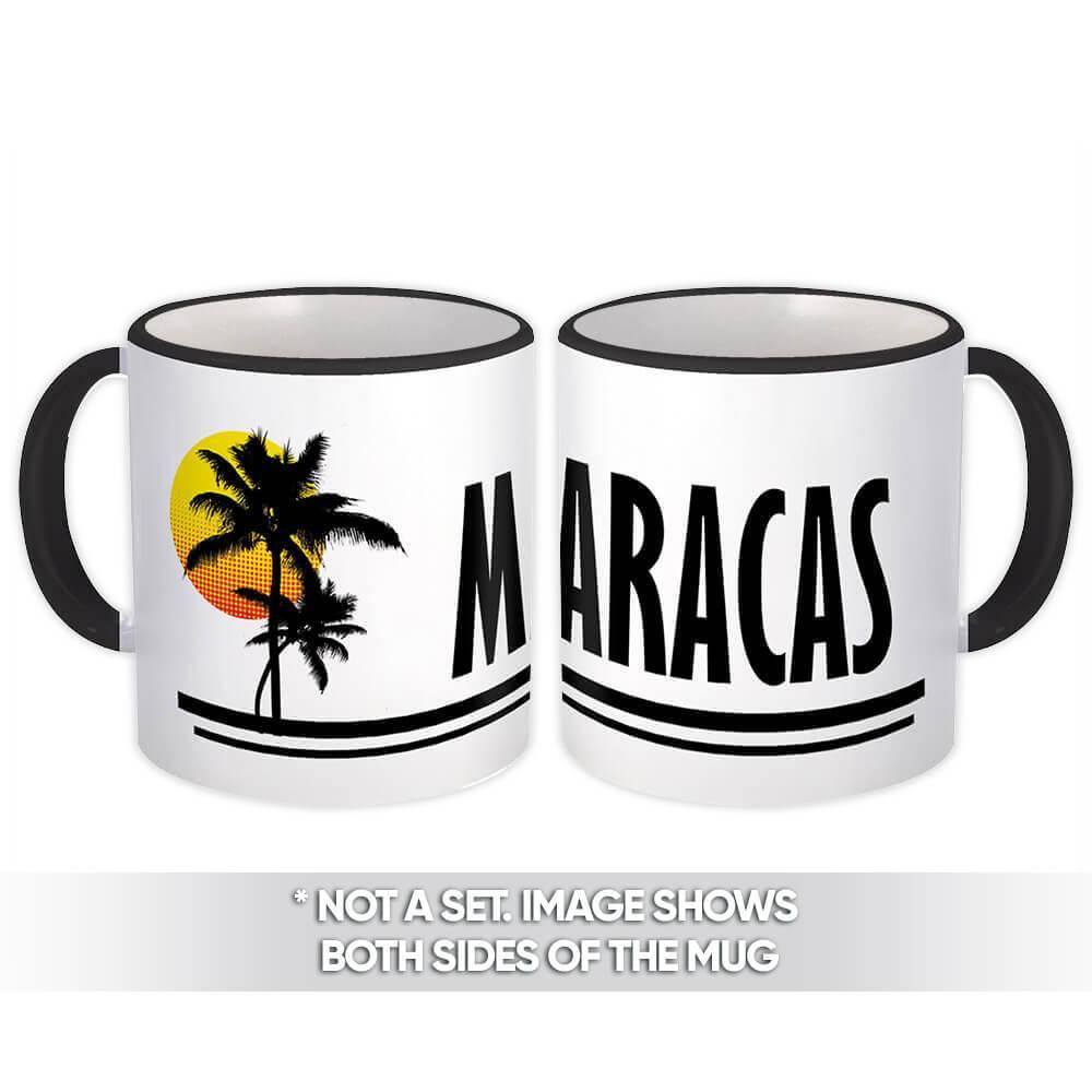 Maracas : Gift Mug Trinidad & Tobago Tropical Beach Travel Souvenir