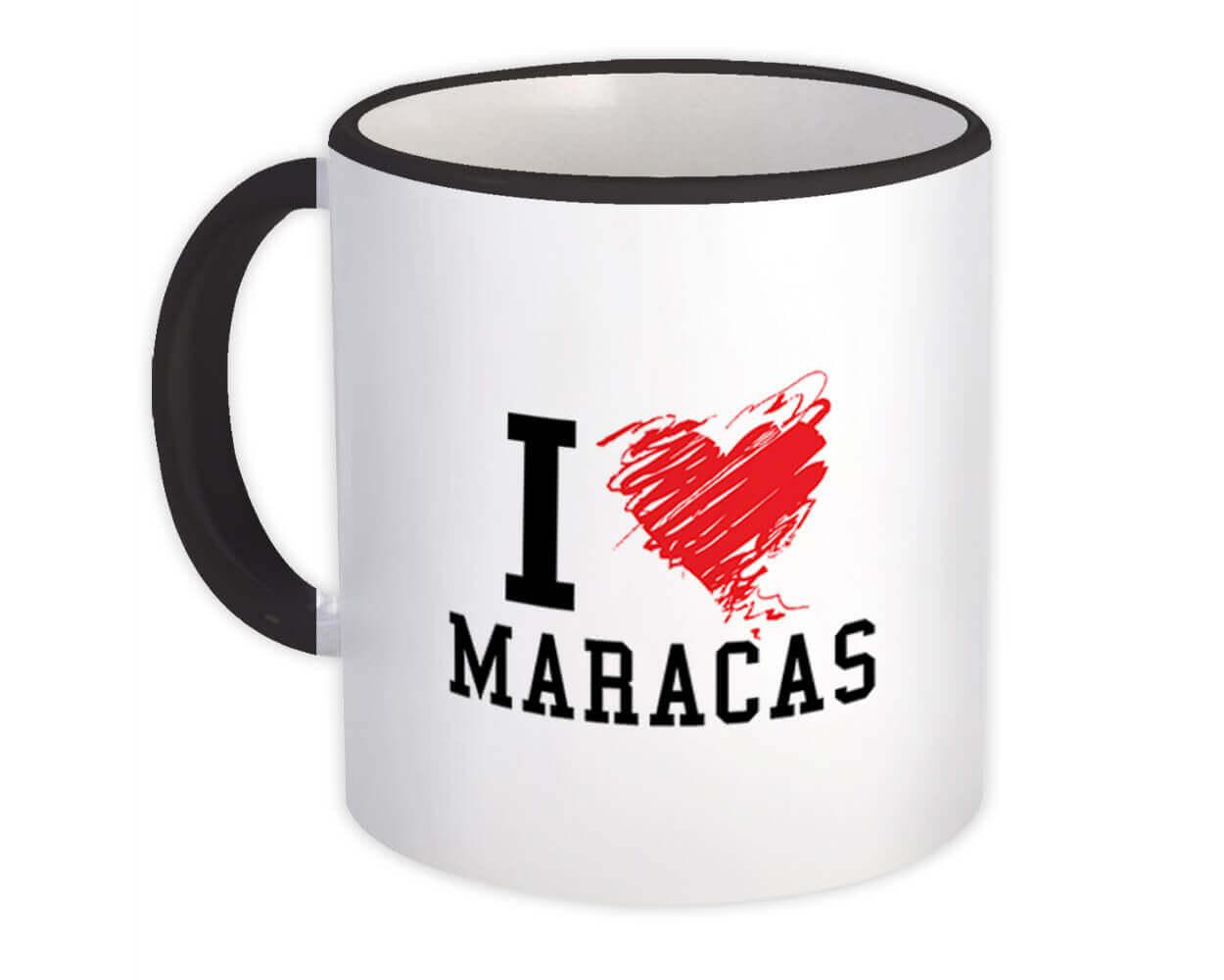I Love Maracas : Gift Mug Trinidad & Tobago Tropical Beach Travel Souvenir