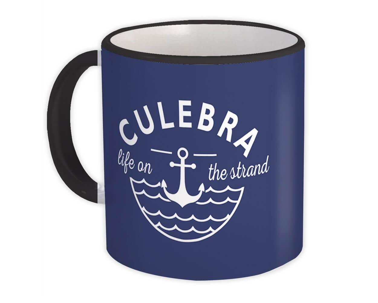 Culebra Life on the Strand : Gift Mug Beach Travel Souvenir Puerto Rico
