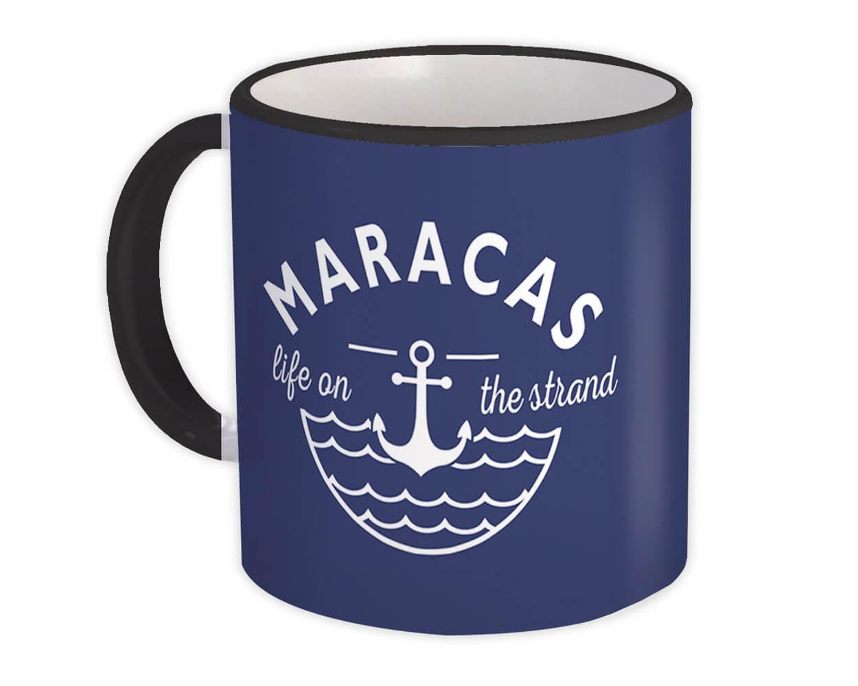 Maracas Life on the Strand : Gift Mug Beach Travel Souvenir Trinidad & Tobago