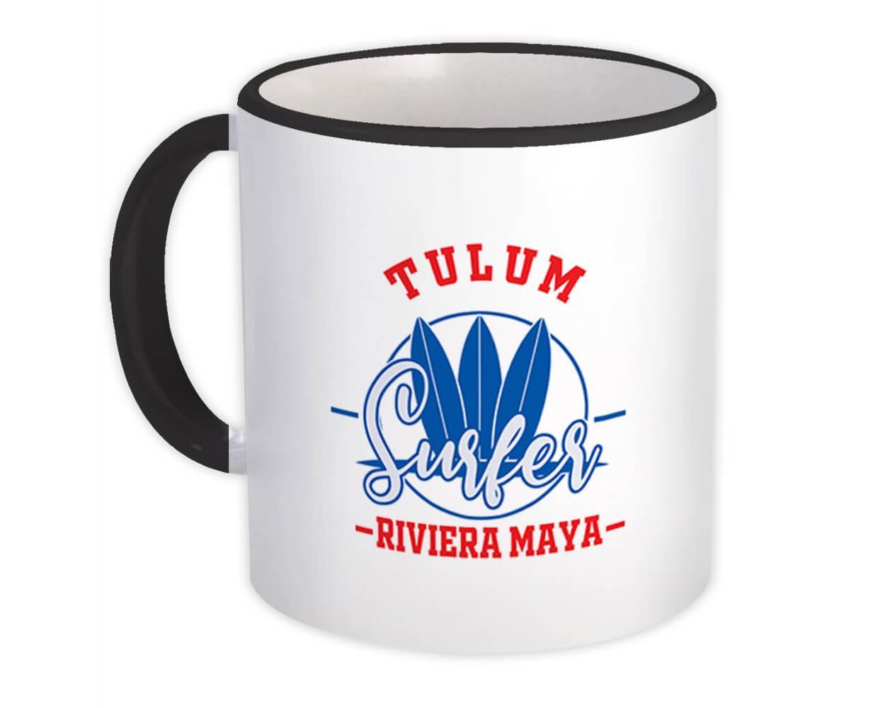 Tulum Mexico : Gift Mug Surfer Tropical Souvenir Travel