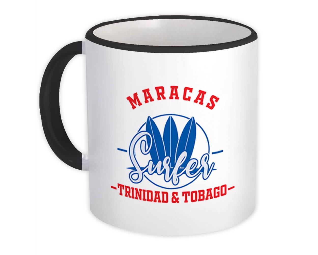 Maracas Trinidad & Tobago : Gift Mug Surfer Tropical Souvenir Travel