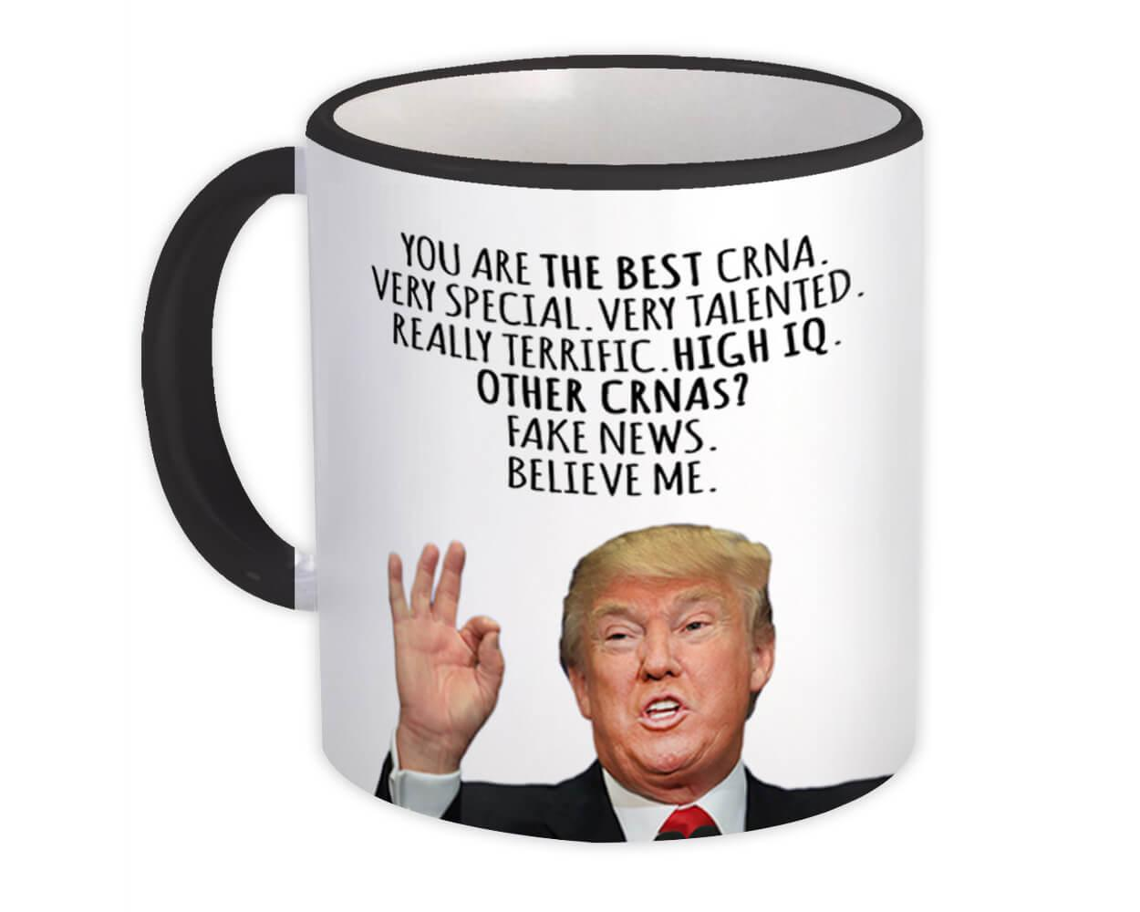 CRNA Funny Trump : Gift Mug Best CRNA Birthday Christmas Jobs