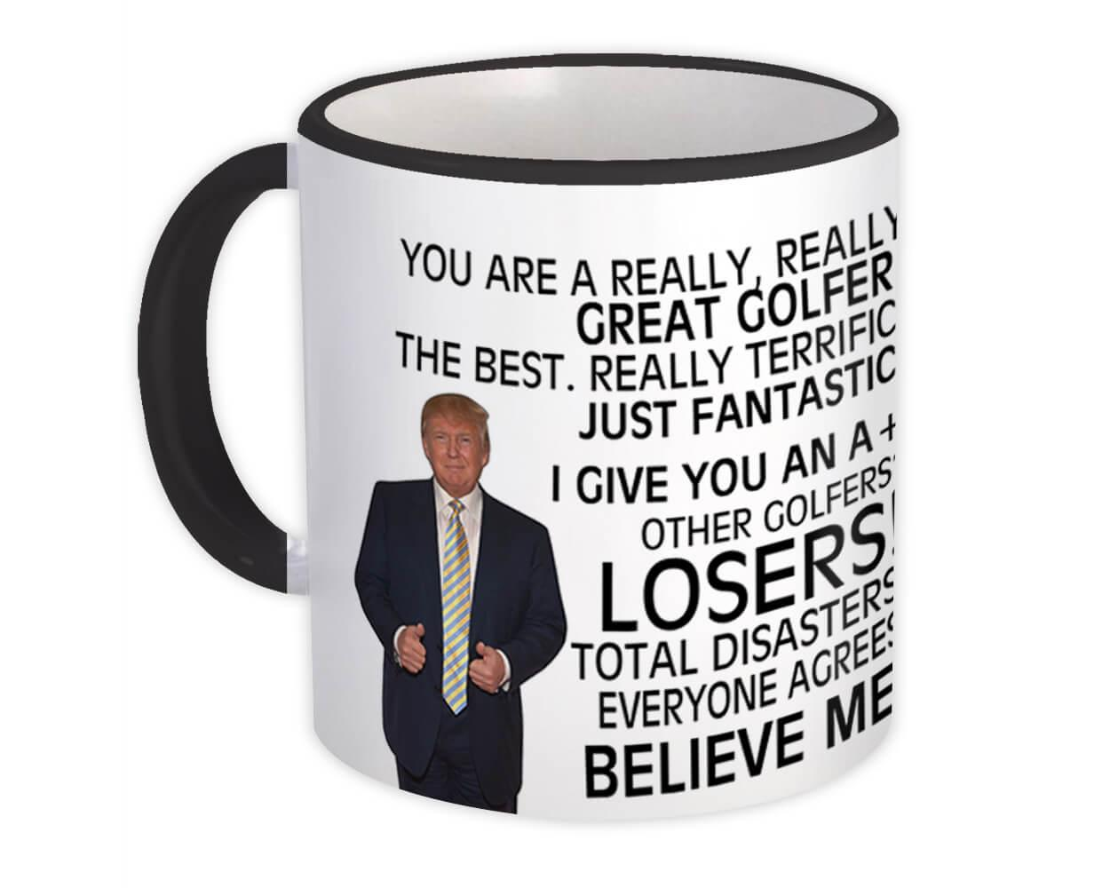 Gift for Golfer : Gift Mug Donald Trump Great Golfer Funny Christmas