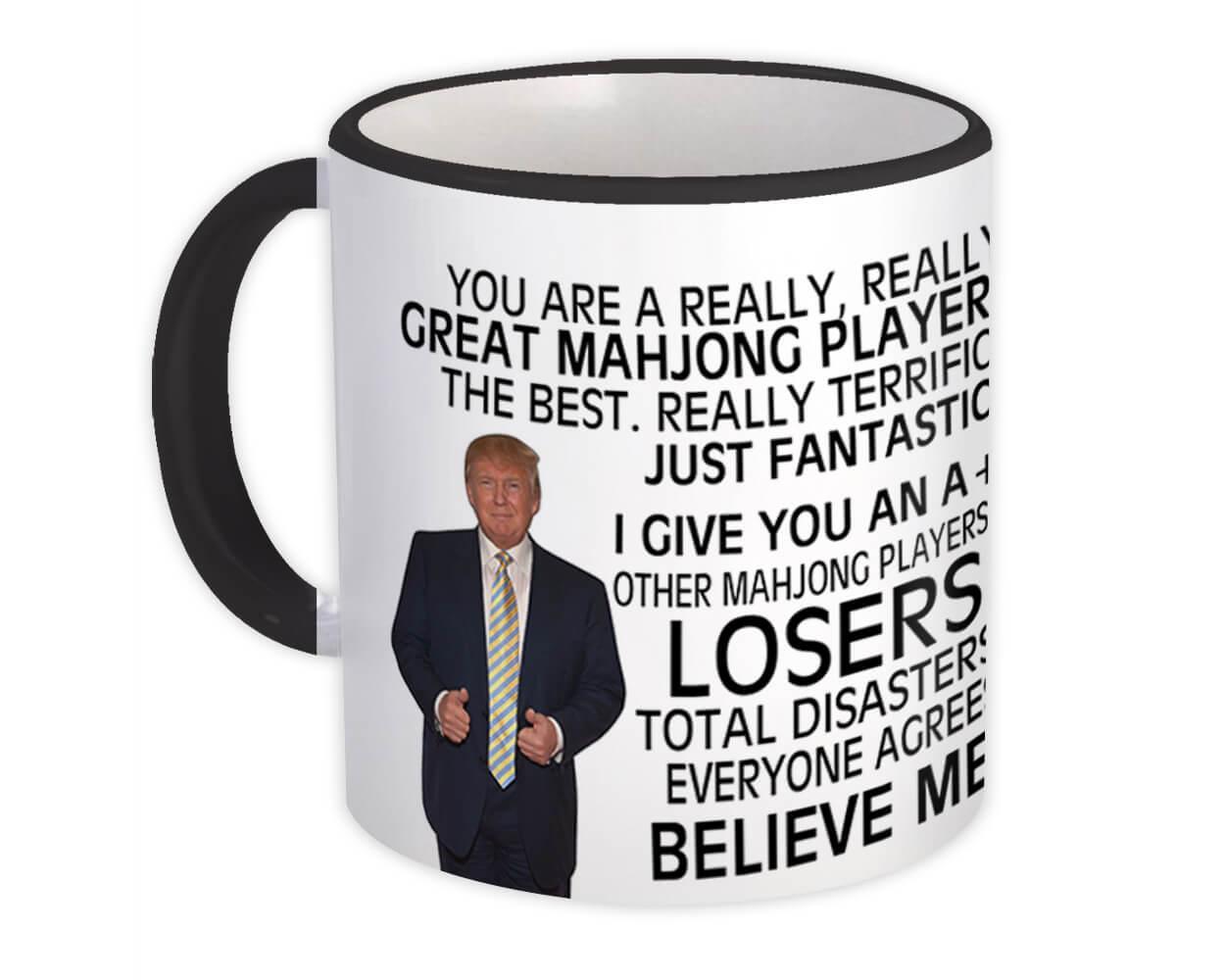 Gift for Mahjong Player : Gift Mug Donald Trump Great Mahjong Player Funny Christmas