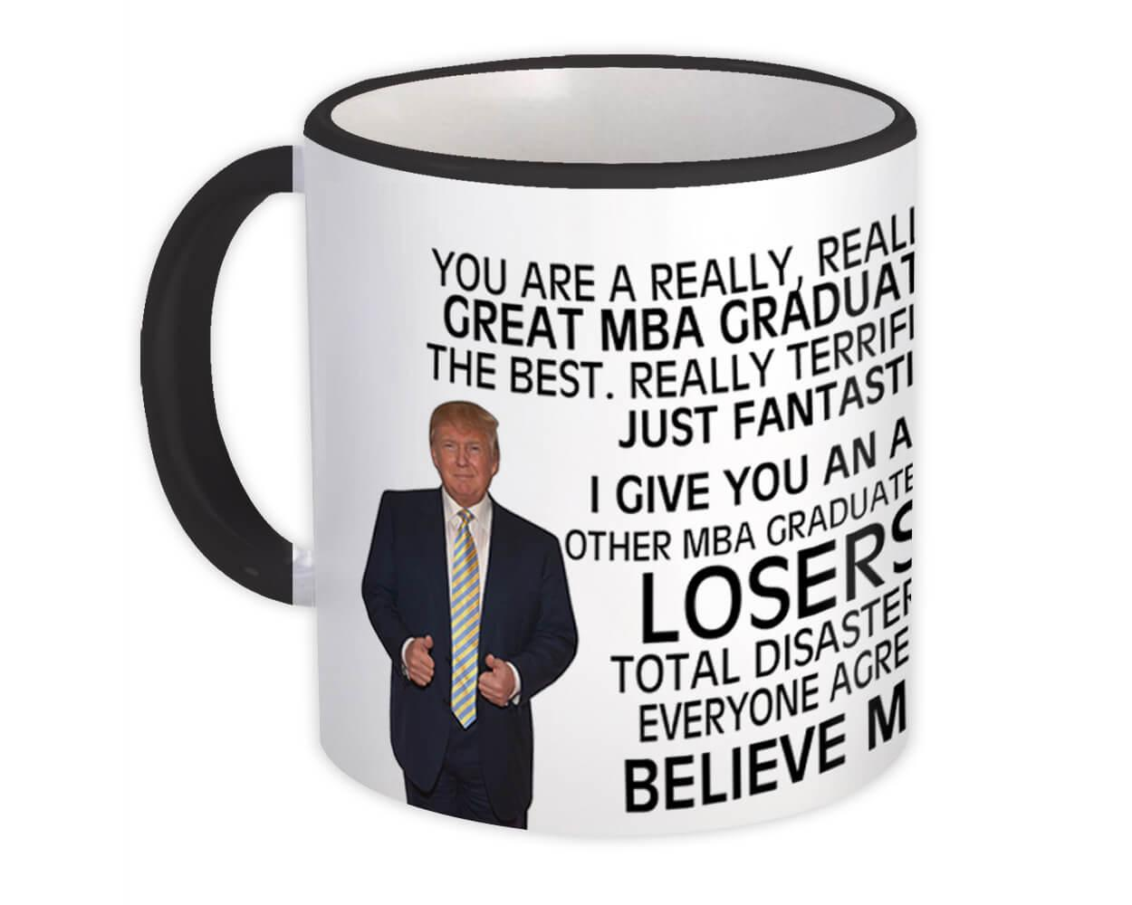 Gift for MBA GRADUATE : Gift Mugs Great MBA Graduate College Friend Family