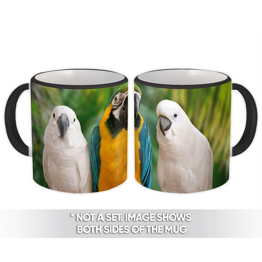 Macaw Cockatoos : Gift Mug Parrot Bird Animal Cute Ecology Nature Aviary
