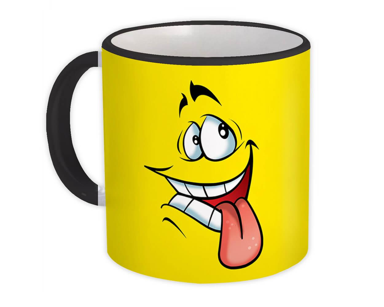 Funny Face : Gift Mug Cute Smile for Teen Happy Caricature Emoji