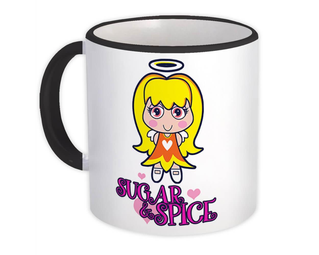 Cartoon Angel Sugar & Spice : Gift Mug Vintage Retro Rebel Cute