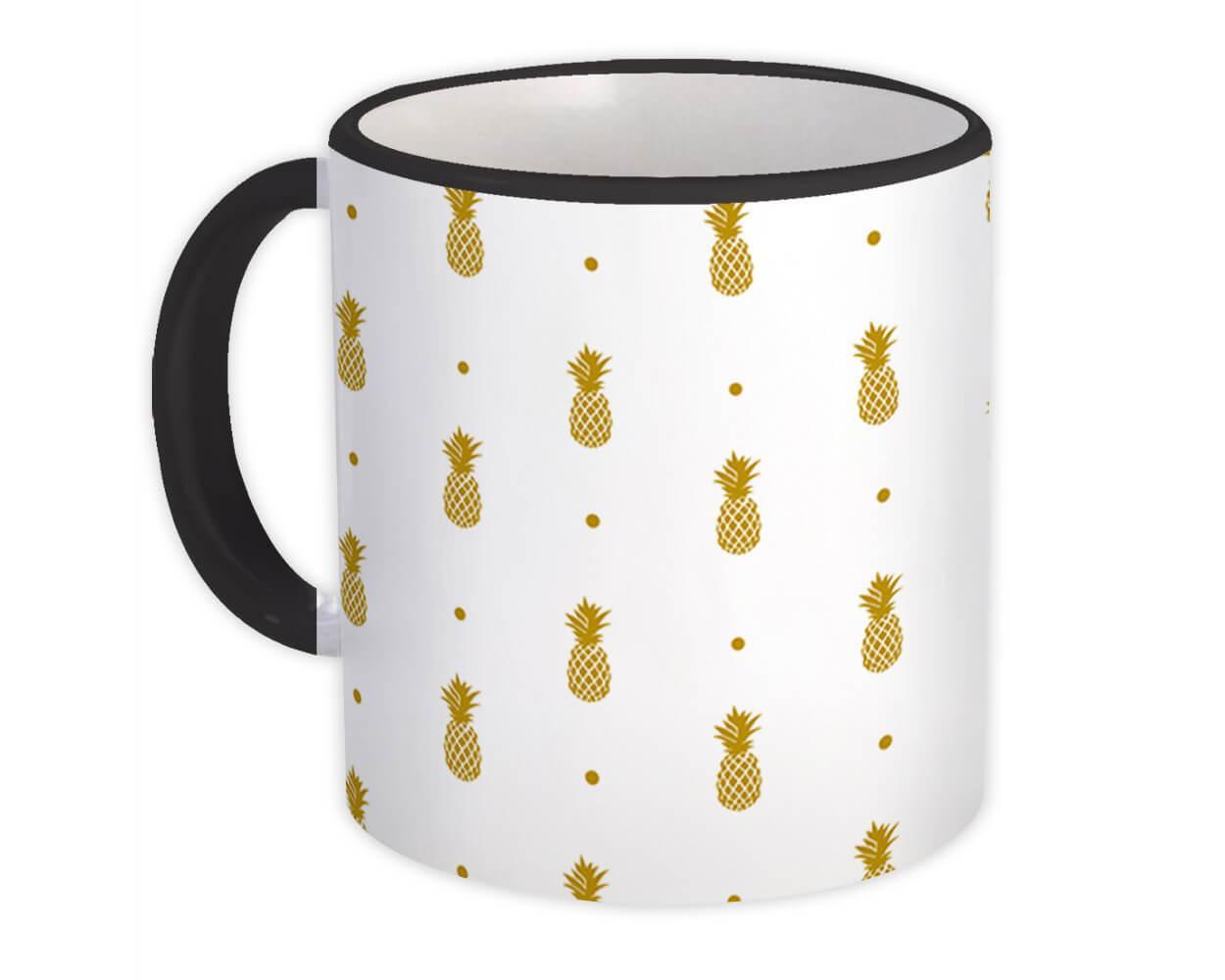 Pineapple : Gift Mug Tropical Trend Decor Name Modern Pastel Super Chic
