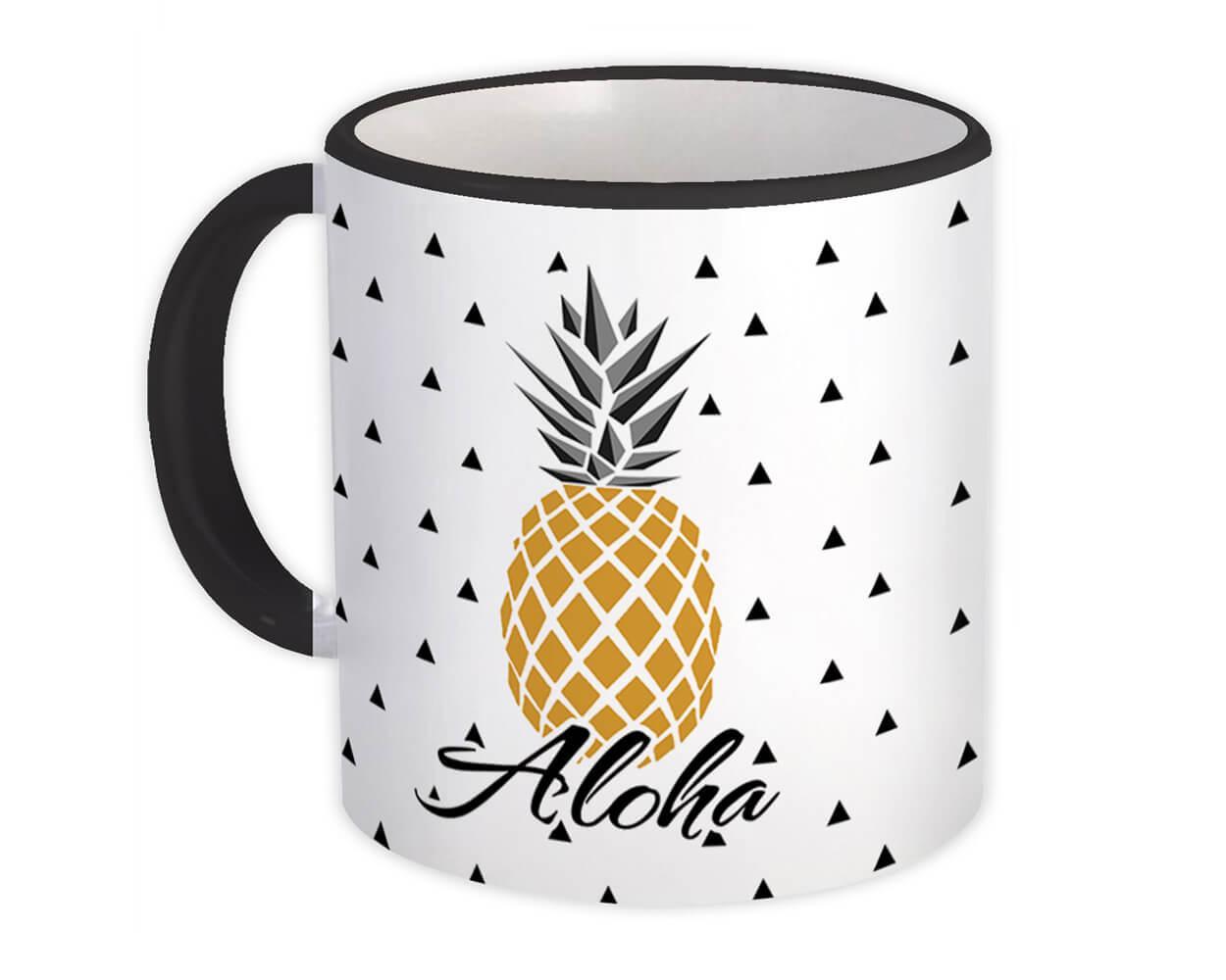 Pineapple Aloha : Gift Mug Hawaii Tropical Cup Funny Elegant