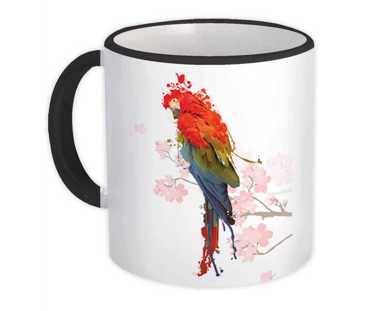 Macaw : Gift Mug Artistic Parrot Bird Modern Contemporary