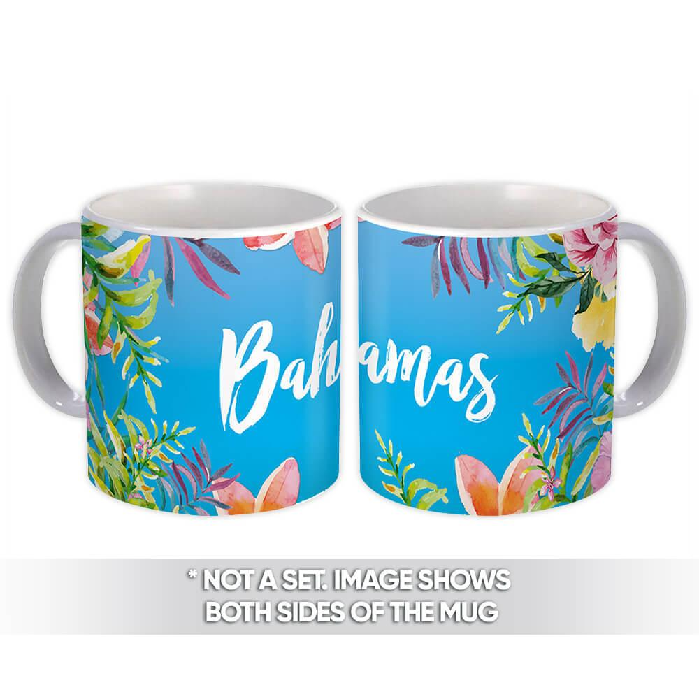 Flowers Bahamas : Gift Mug Nassau Tour Souvenir West Indies Mug Tropical