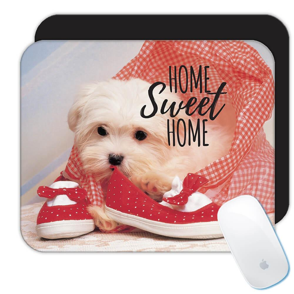 Lhasa Shoes Home Sweet Home : Gift Mousepad Dog Puppy Pet Funny Animal Cute