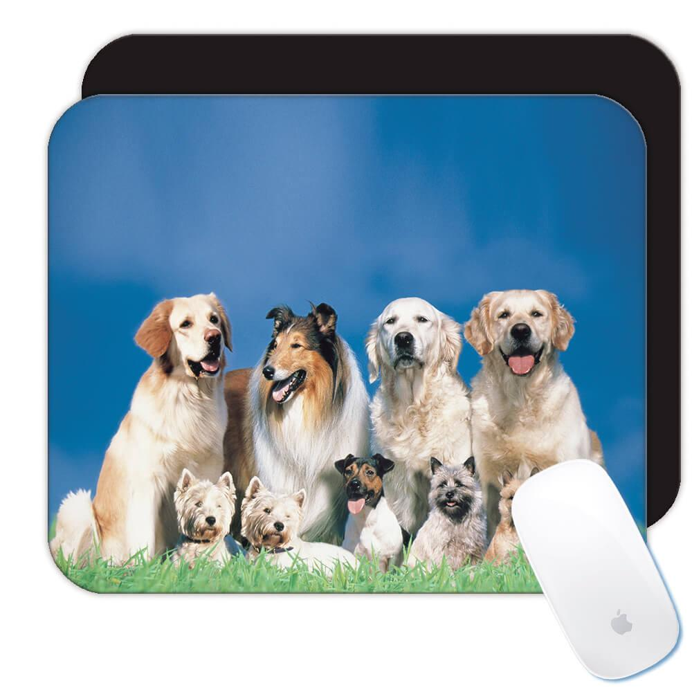 Collie And Other Dogs : Gift Mousepad Dog Puppy Pet Animal Cute