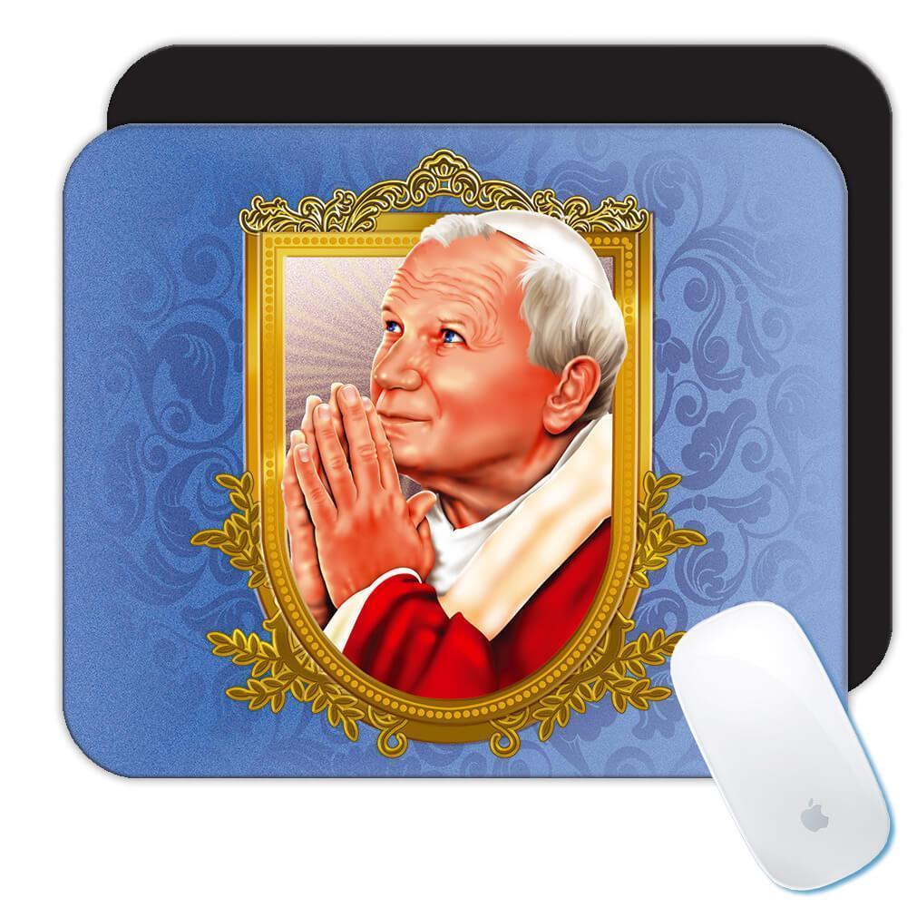 Saint John Paul II : Gift Mousepad Catholic Religious Karol Wojtyla
