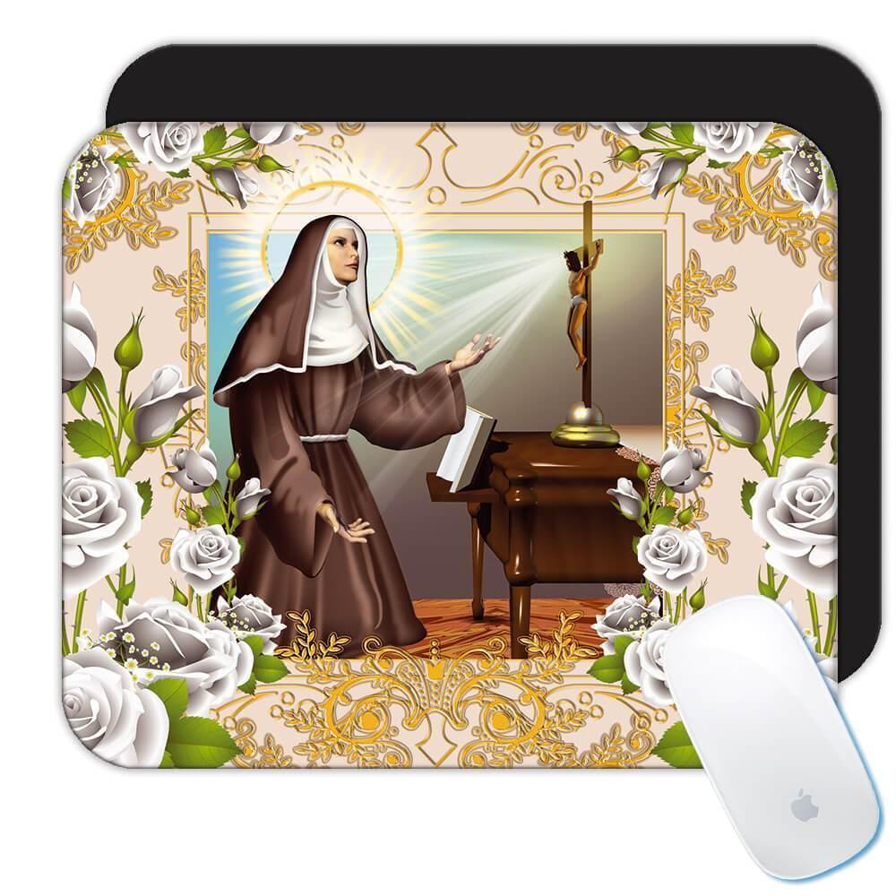 Saint Rita of Cascia : Gift Mousepad Catholic Religious Virgin