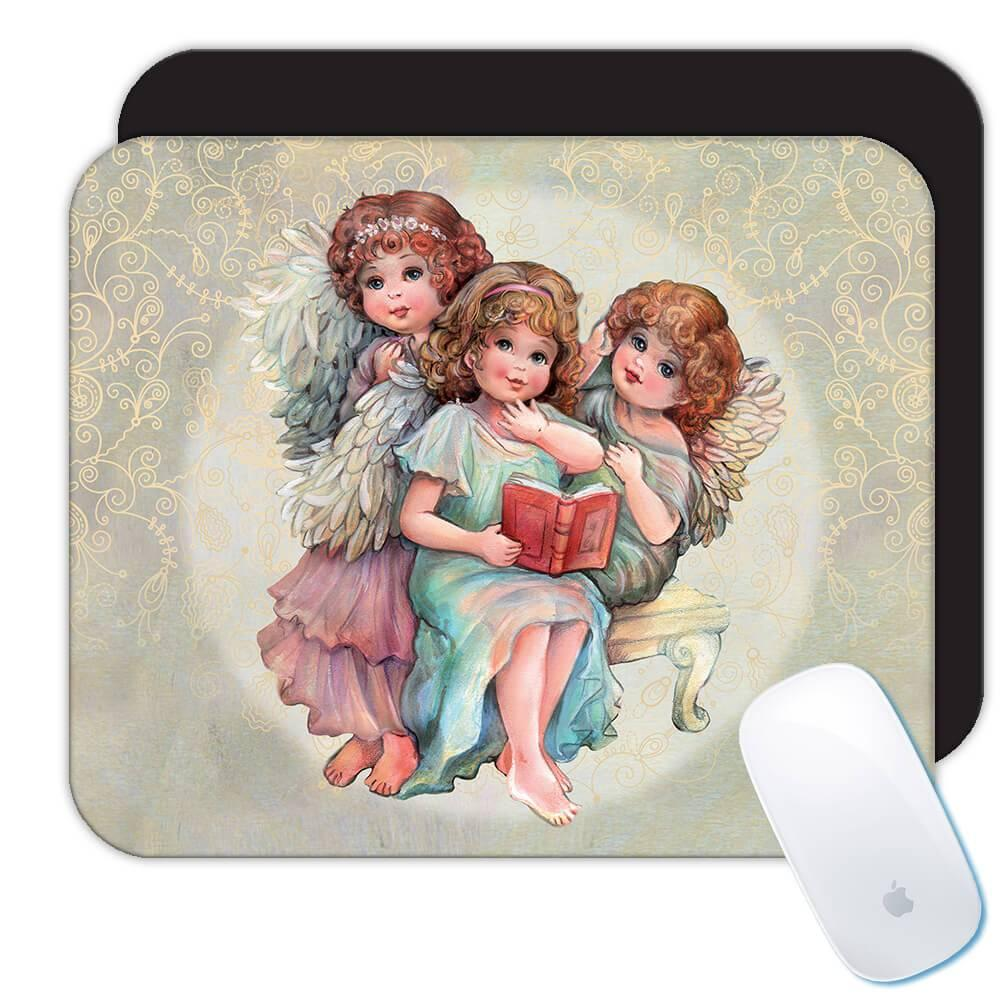 Angels Reading : Gift Mousepad Catholic Esoteric Victorian Religious