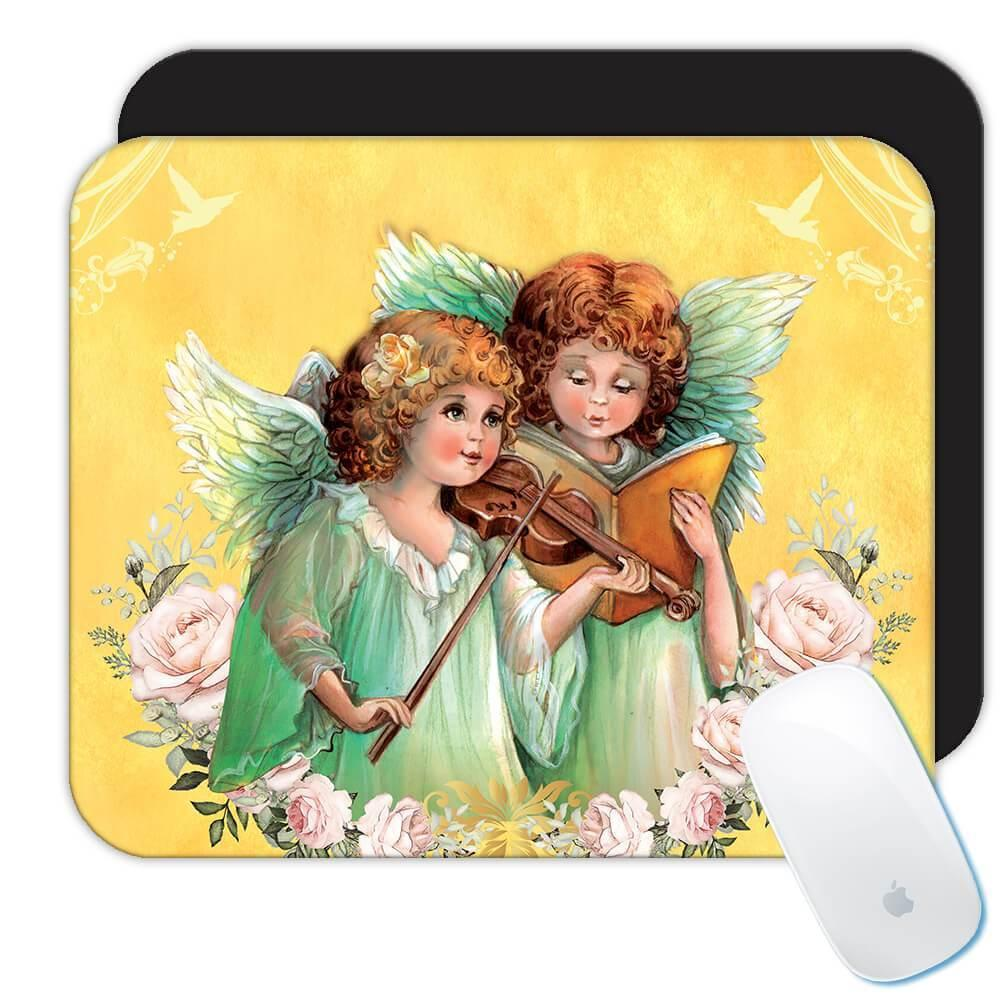 Angels Reading : Gift Mousepad Catholic Religious Esoteric Victorian