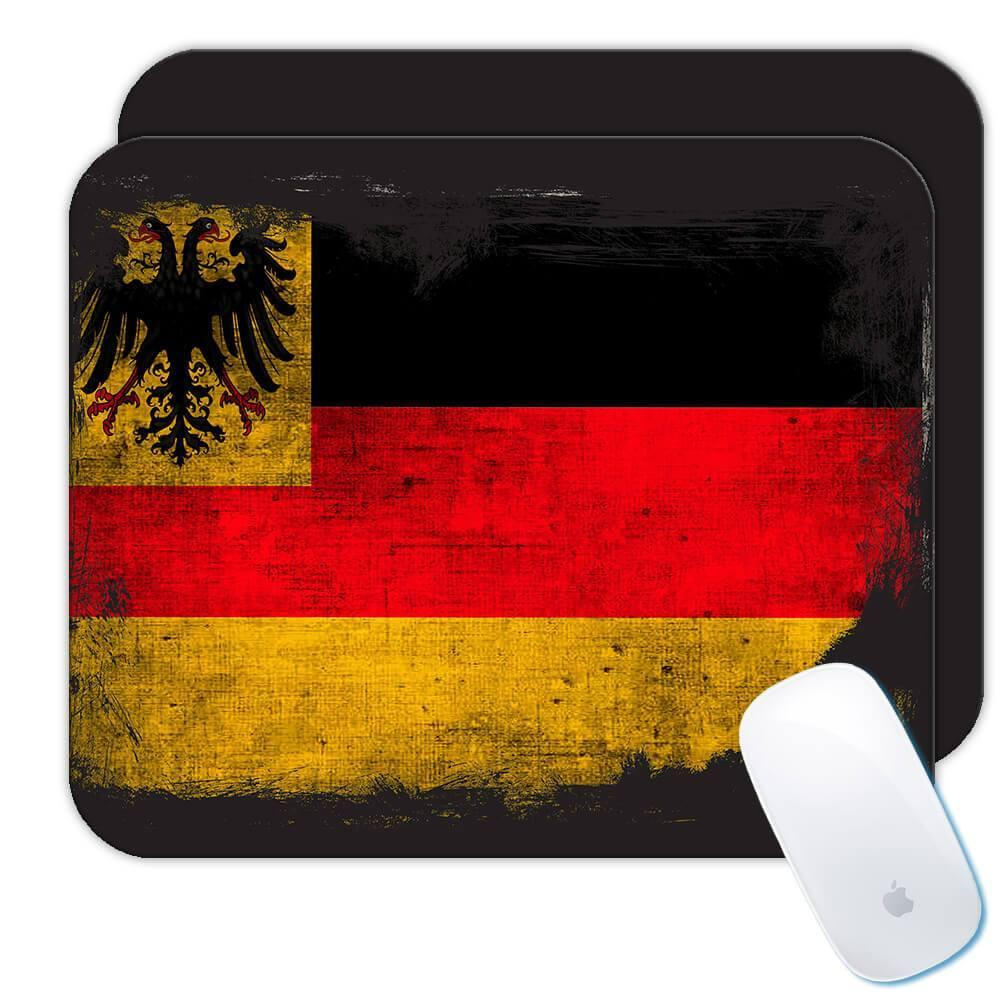 Germany : Gift Mousepad Distressed Flag Vintage German Expat Country