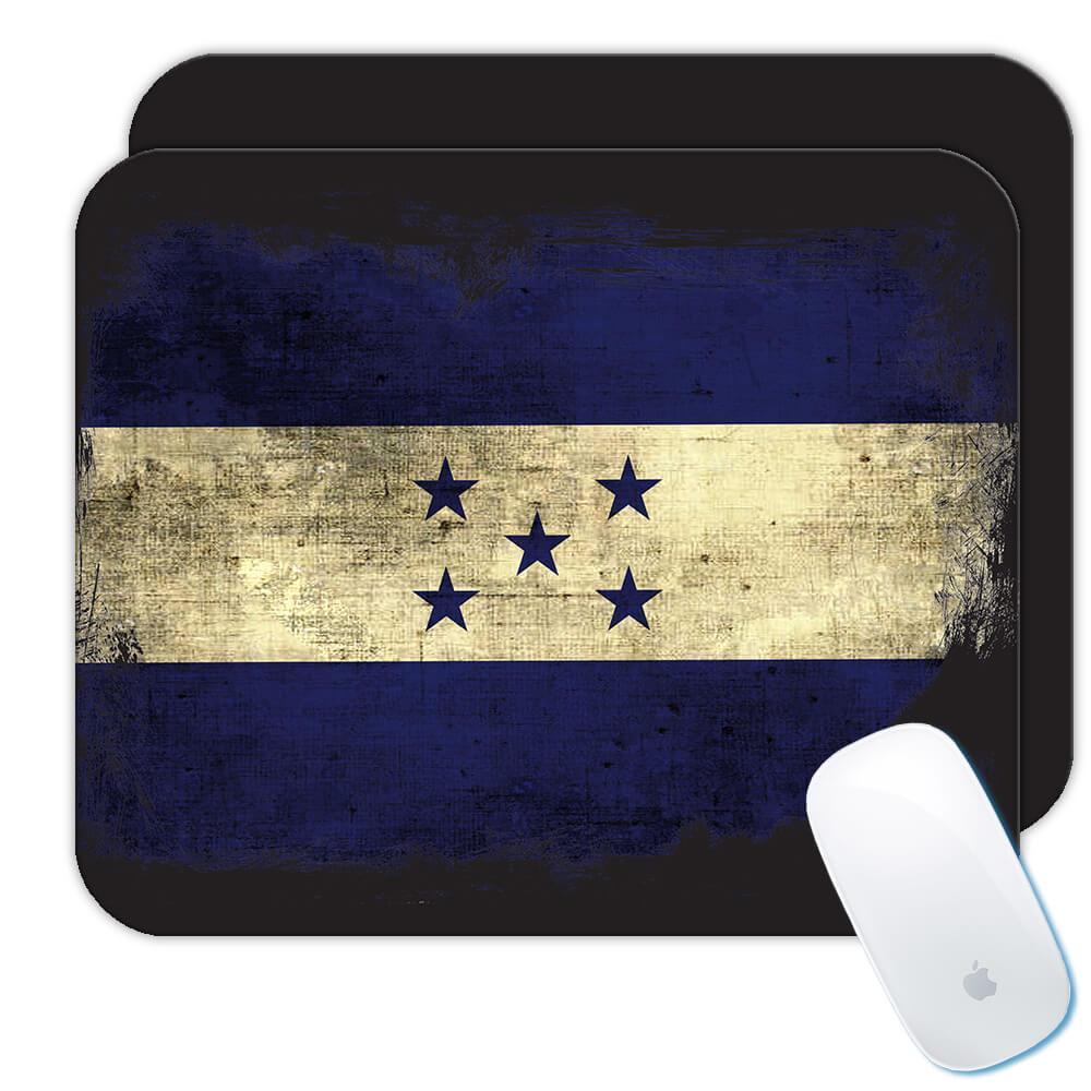 Honduras : Gift Mousepad Distressed Flag Vintage Honduran Expat Country