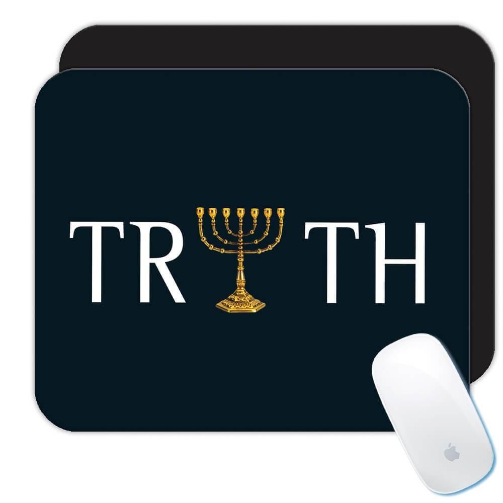 Menorah Truth : Gift Mousepad Jewish Hannukak Chanukkah Religious Israel Candle Light