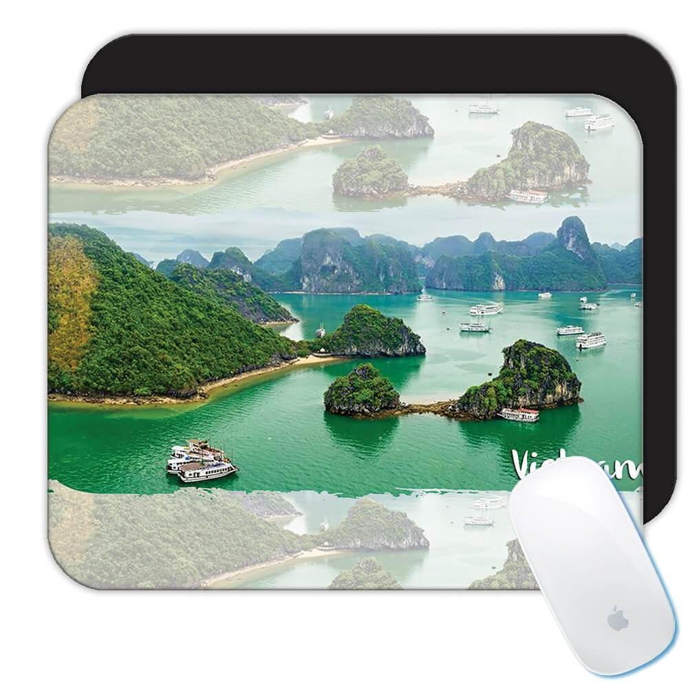 VIETNAM BAY : Gift Mousepad Vietnamese Pride Flag Country Souvenir Travel Beach