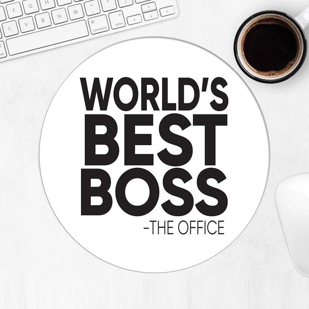 Worlds Best BOSS : Gift Mousepad Office Work Funny Appreciation Gift Birthday