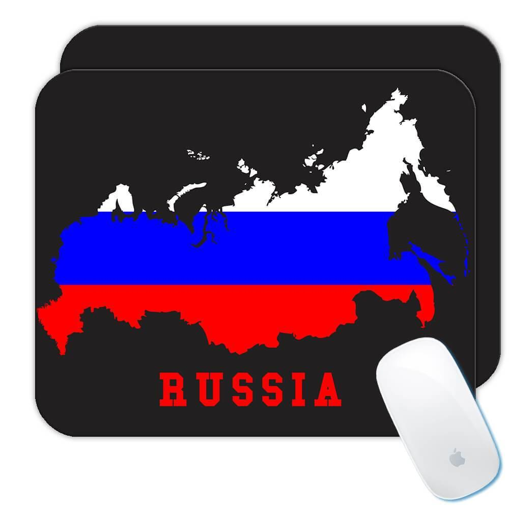 Russia MAP Flag : Gift Mousepad Russian Epat Country Pride