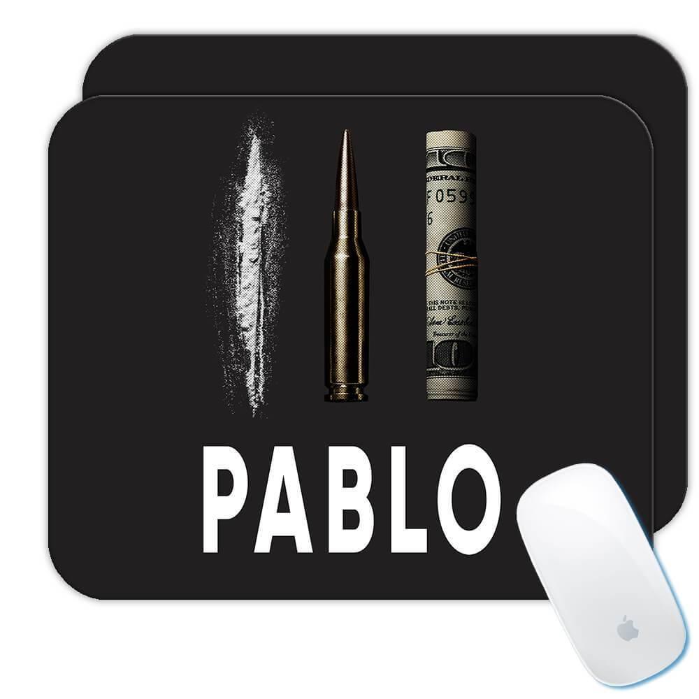 Pablo Escobar : Gift Mousepad Narcos Bullet Coke Dollar Money