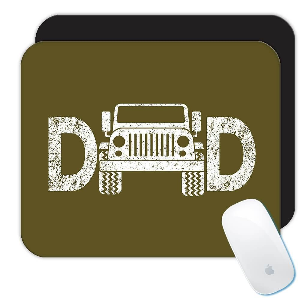 Jeep Dad : Gift Mousepad Father Day Christmas Rally Offroad Birthday