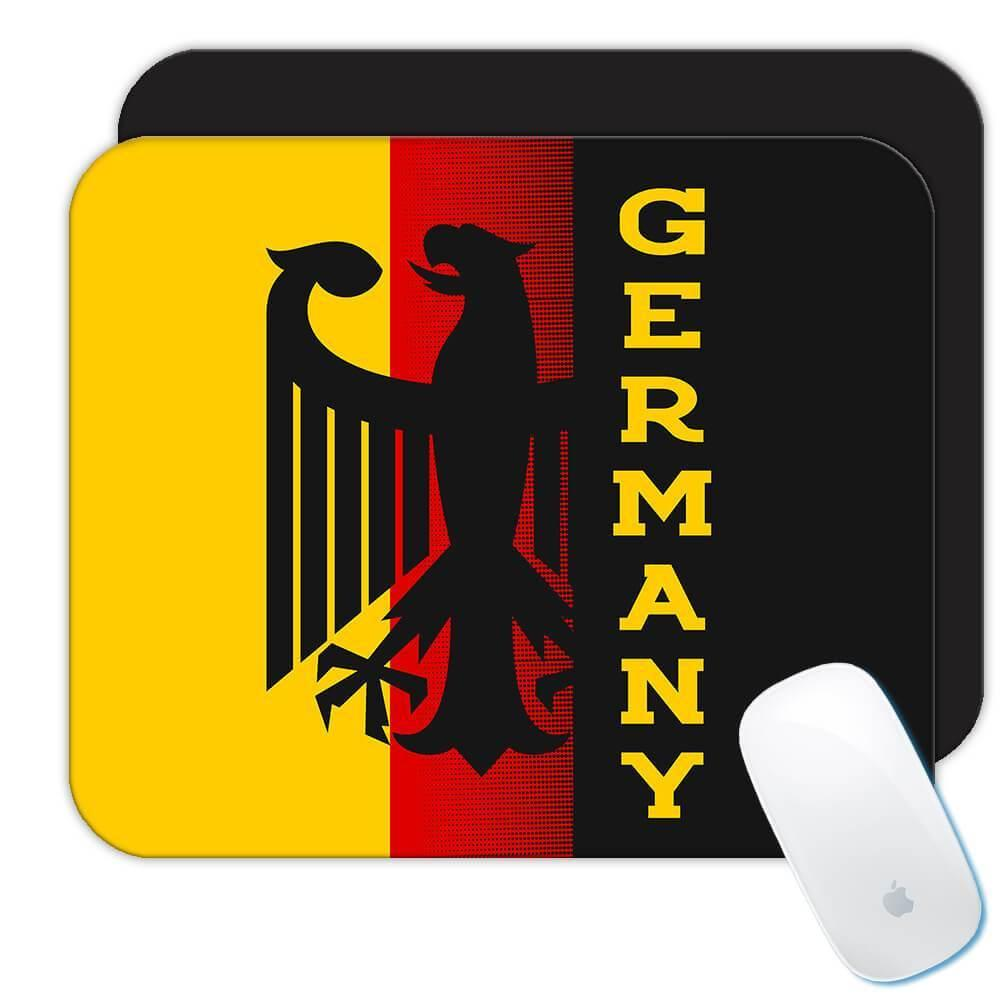 Germany Eagle : Gift Mousepad Crest Flag Country German Expat Deutschland
