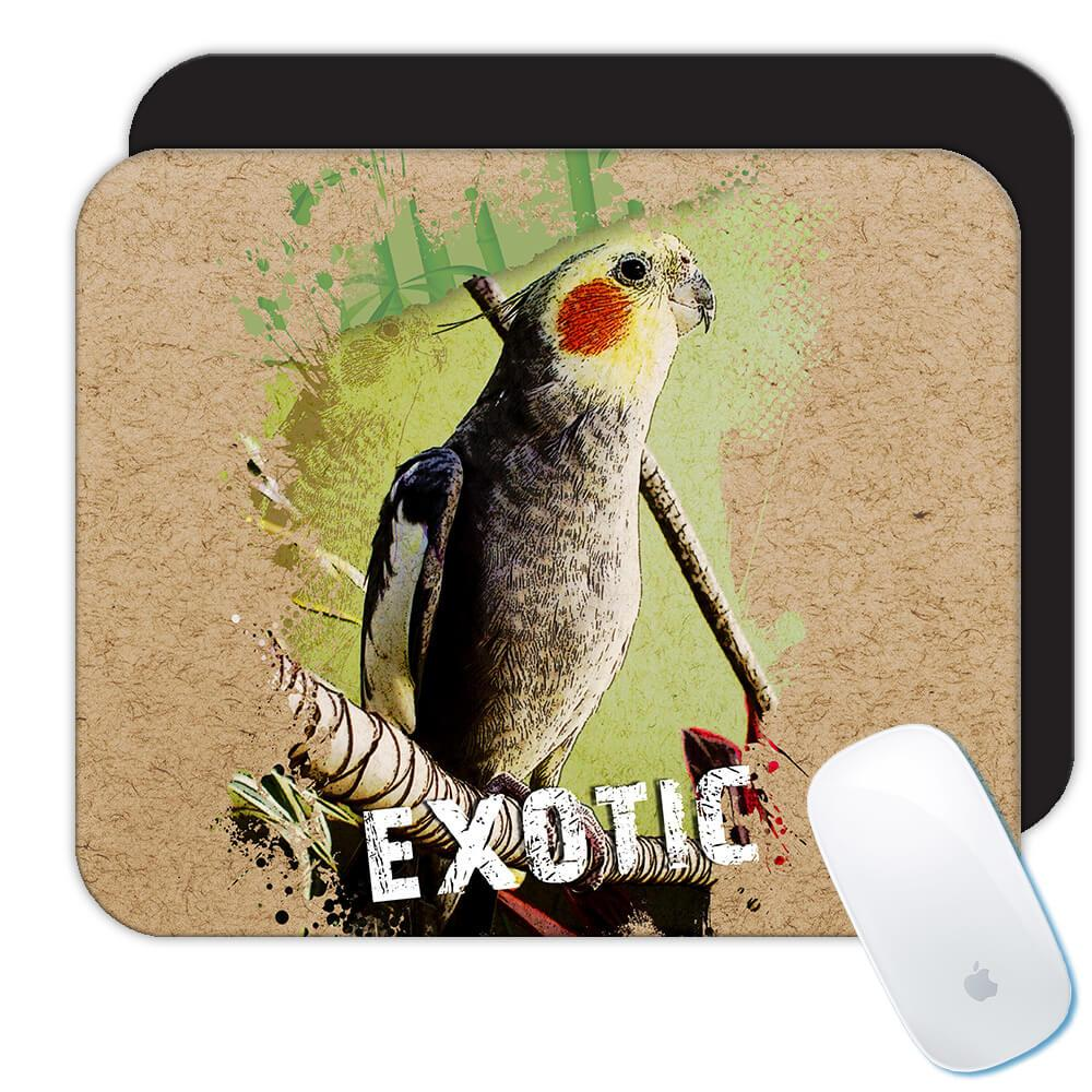 Parrot Cockatiel : Gift Mousepad Bird Nature Animal Cute Ecology Nature Aviary