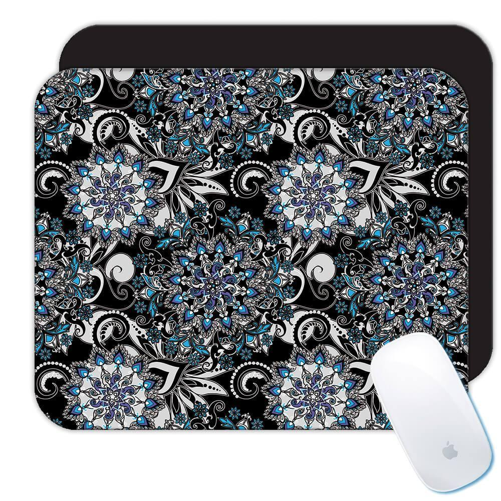 Mandala Flowers : Gift Mousepad Seamless Pattern Oriental Art Geometric Home Decor Yoga