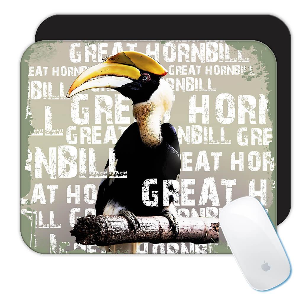 Great Hornbill Toucan : Gift Mousepad Bird Animal Exotic Tropical
