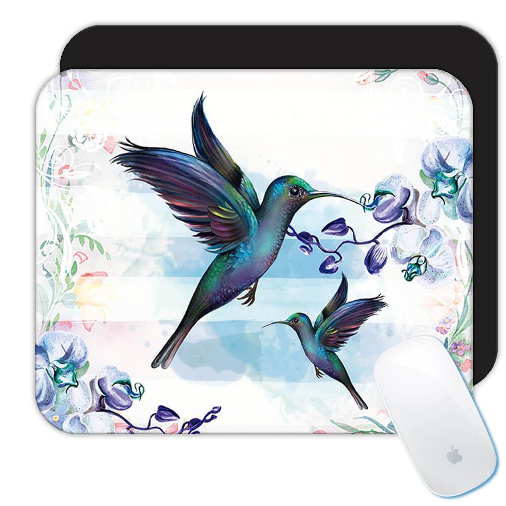 Hummingbird : Gift Mousepad Bird Beautiful Flowers Decor Ecology Nature Aviary