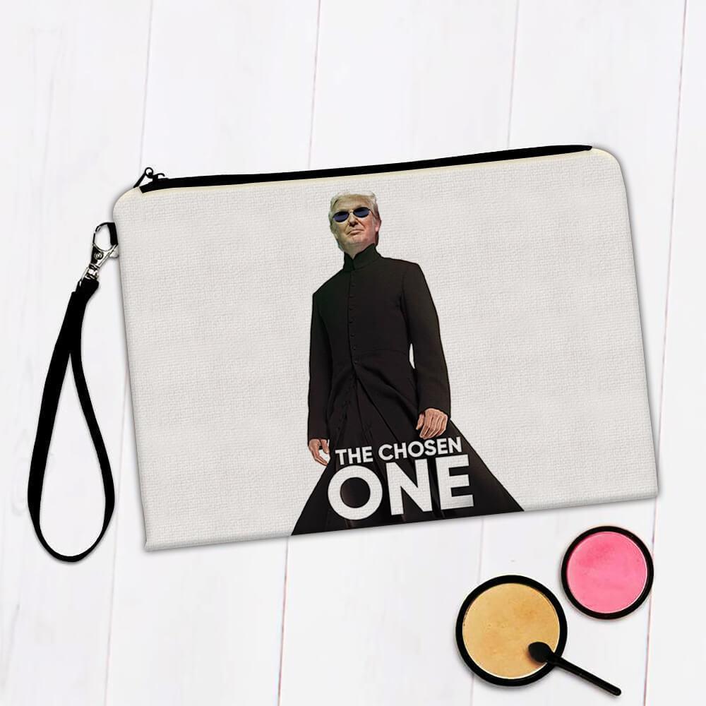 Trump The Chosen One : Gift Makeup Bag Matrix Parody Funny Neo Office Donald Cool