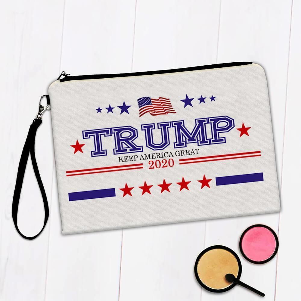 Keep America Great Trump 2020 : Gift Makeup Bag USA Donald American Flag