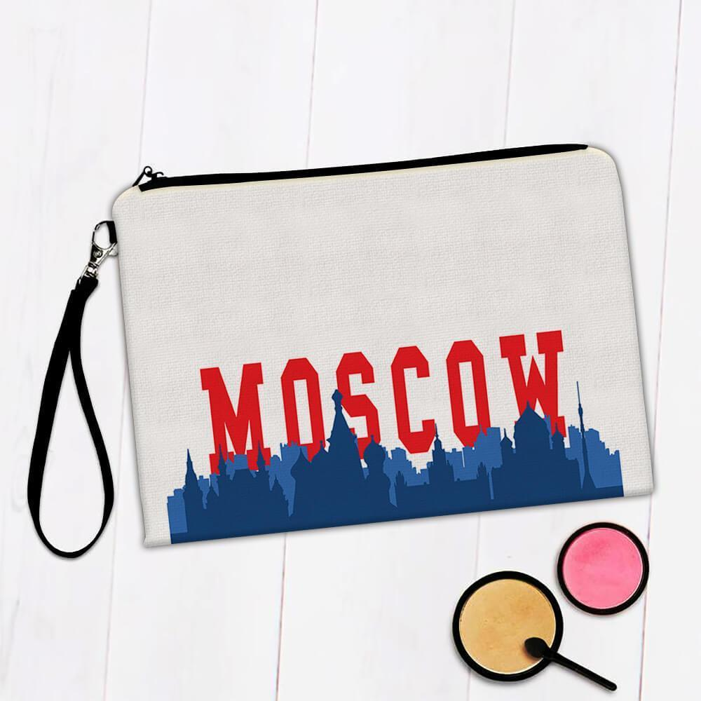 Moscow Russia : Gift Makeup Bag Red Square Country Country Flag Russian Skyline