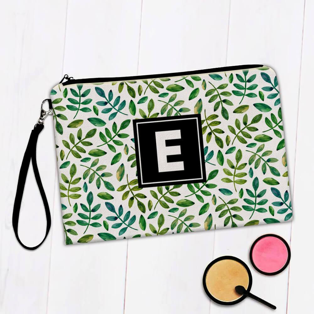 Plant Twigs : Gift Makeup Bag Leaves Greenery Pattern Floral Nature Ecological Decor Friendship