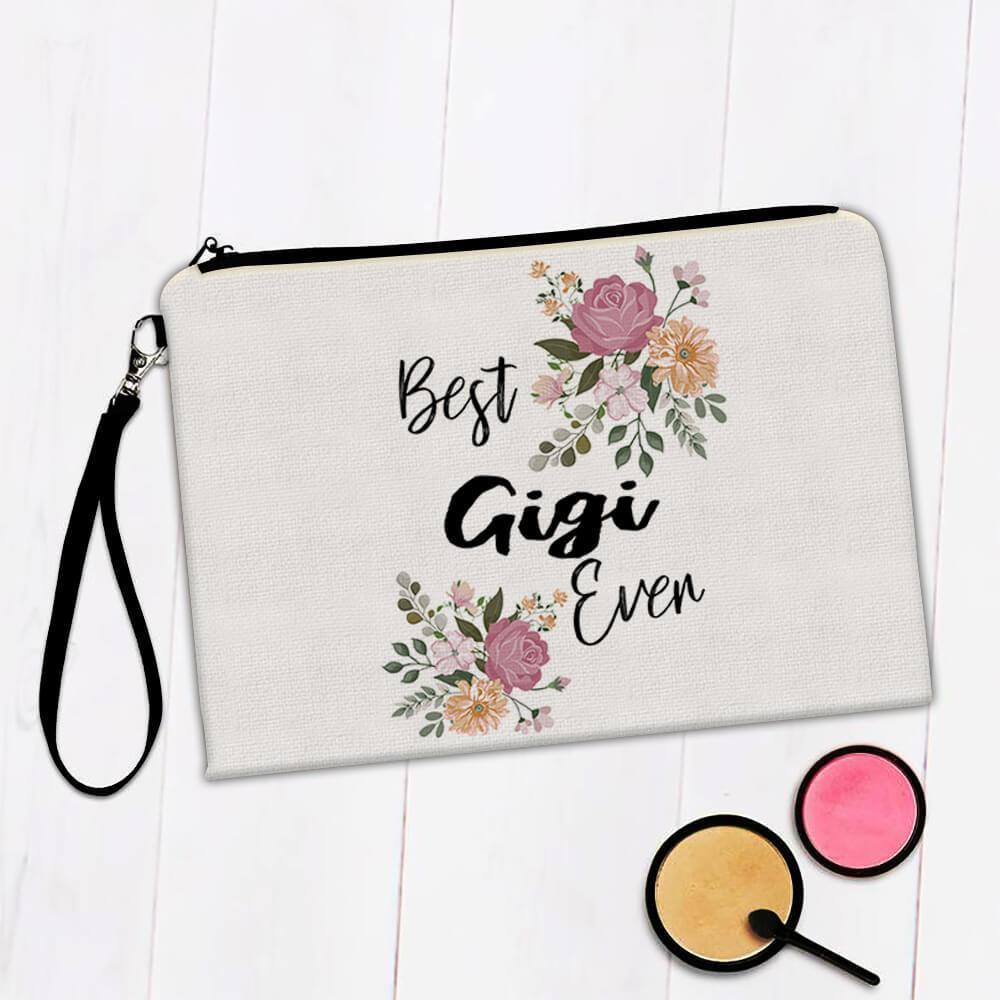 Best GIGI Ever : Gift Makeup Bag Flowers Floral Boho Vintage Pastel