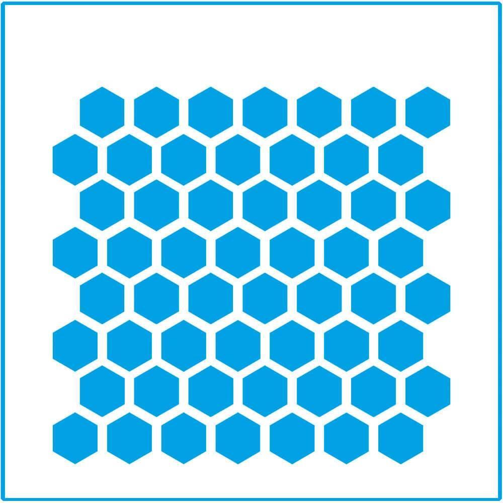 Beehive 4x4in : Laser Cut Diy Reusable Stencil 10x10cm Wood Tile Hexagon Fabric
