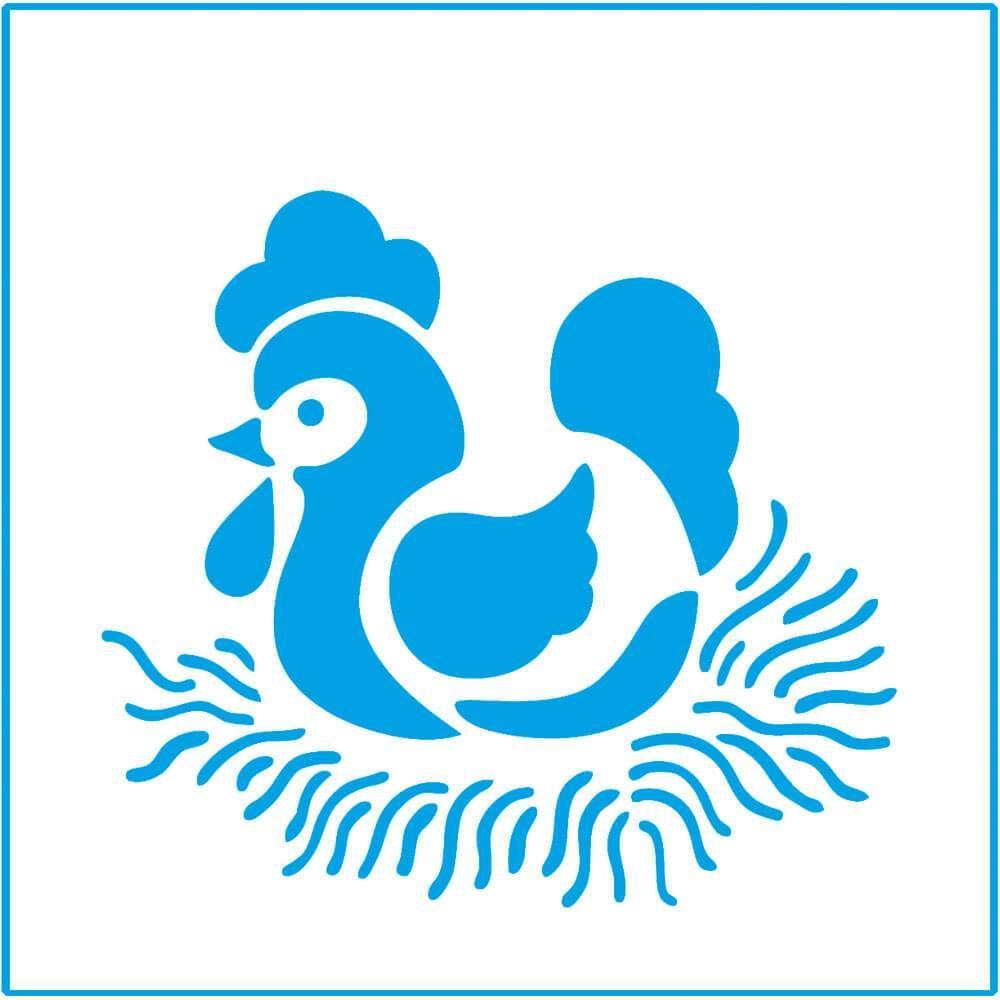 Chicken 4x4in : Laser Cut Diy Reusable Stencil 10x10cm Kitchen Decor Nest Tile