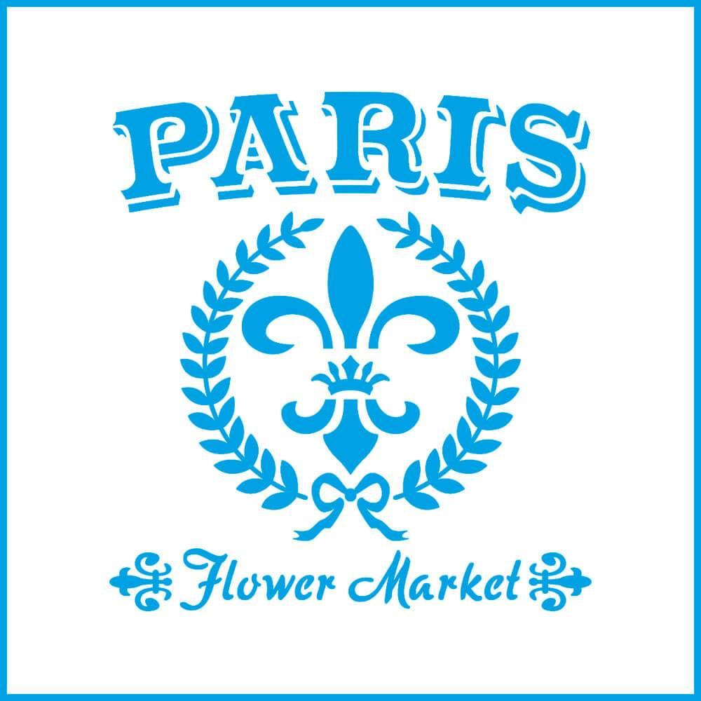 Paris Lily 4x4in : Laser Cut Diy Reusable Stencil 10x10cm Flower Market Laurel