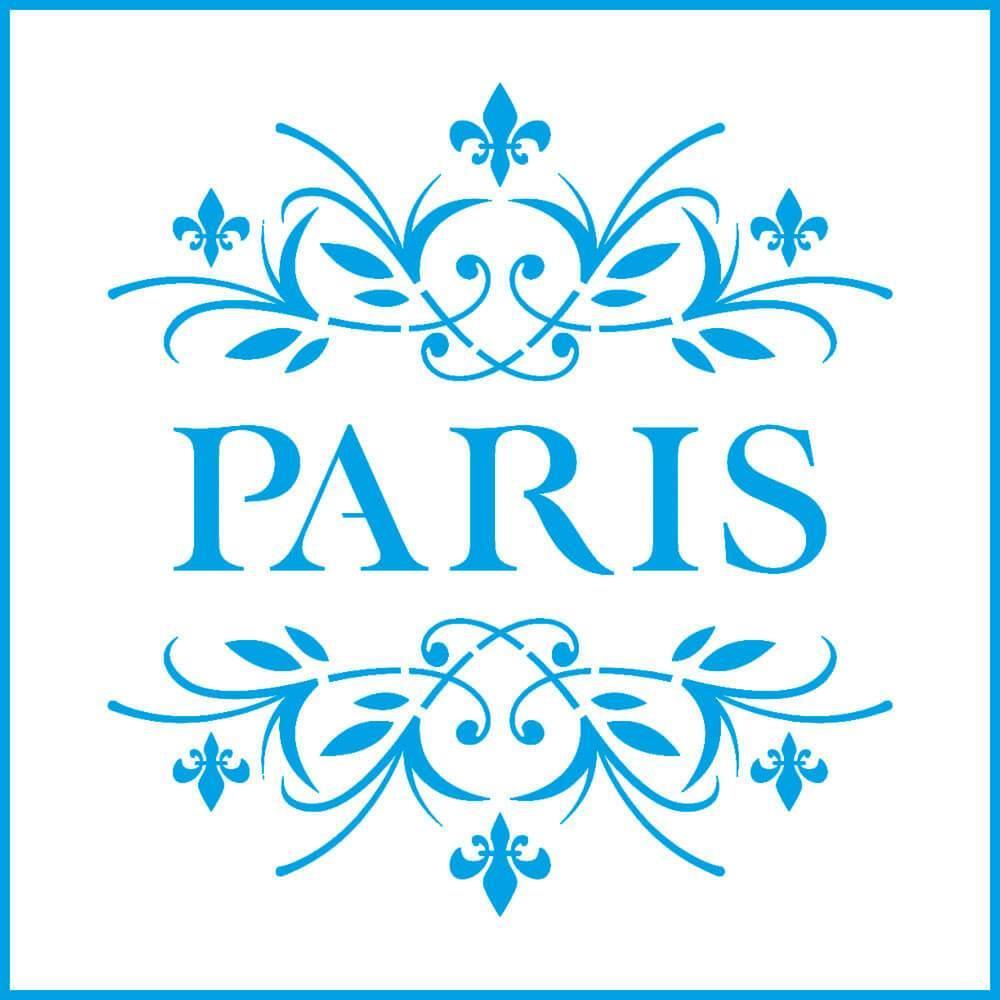 Paris 4x4in : Laser Cut Diy Reusable Stencil 10x10cm Lily Flower Arrangement